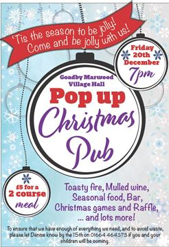 Xmas Pop-up pub night